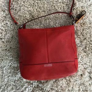 Coach red shoulder bag